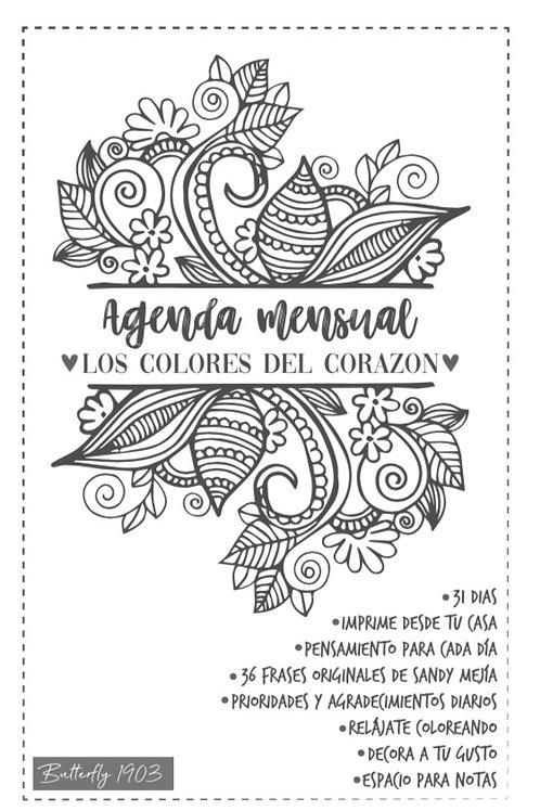 """Agenda mensual """"Los Colores del corazón"""""""