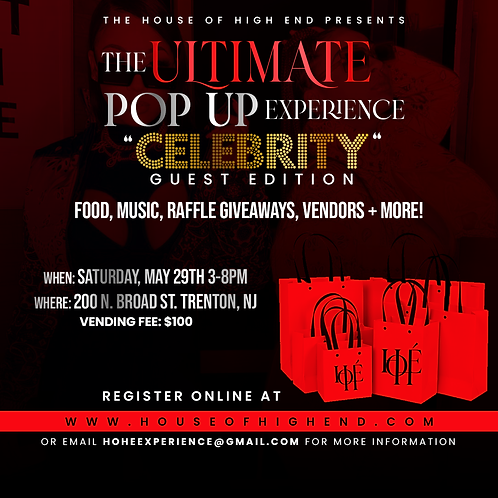 "The ultimate pop up experience ""CELEBRITY GUEST"" edition"