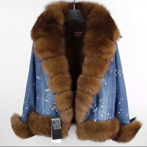 """On my grizzy"" jean jacket"