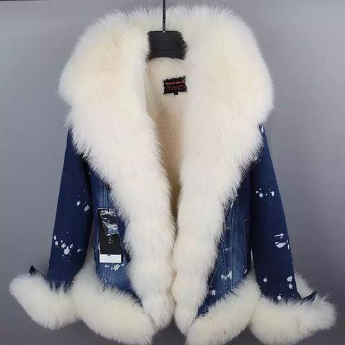 """Snow man"" jean jacket"