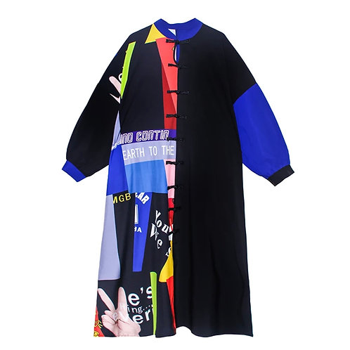 """Flavors"" oversized dress"