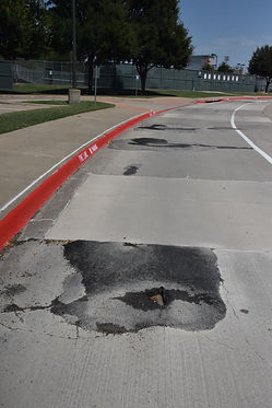 High School fire lane concrete.JPG