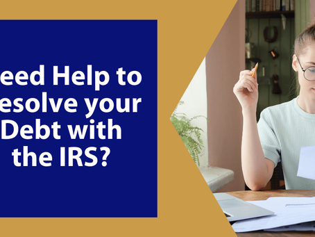 Need Help to Resolve your Debt with the IRS?  | Winchester, VA