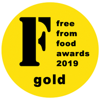 Yorica! wins gold at the 2019 Free From Food Awards.