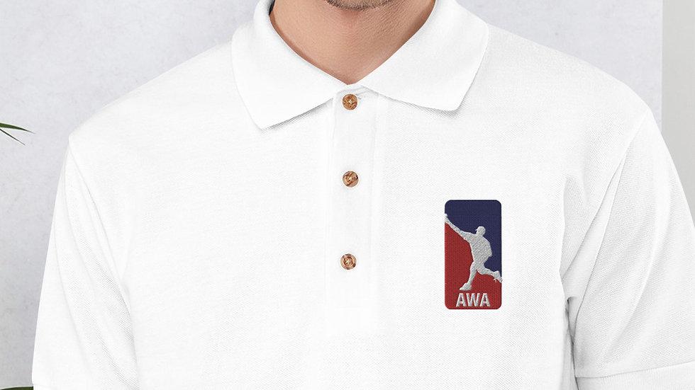 AWA Embroidered Polo Shirt
