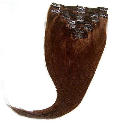 csokoládébarna csatos póthaj emberi hajból