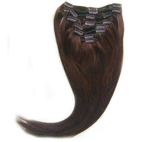 sötétbarna csatos póthaj emberi hajból