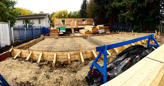 Ready to pour! Four car garage with a mo
