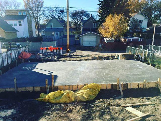 Double Garage Pad #concrete#edmonton#yeg