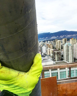 Pouring with a view ☀️ #concrete#vancity