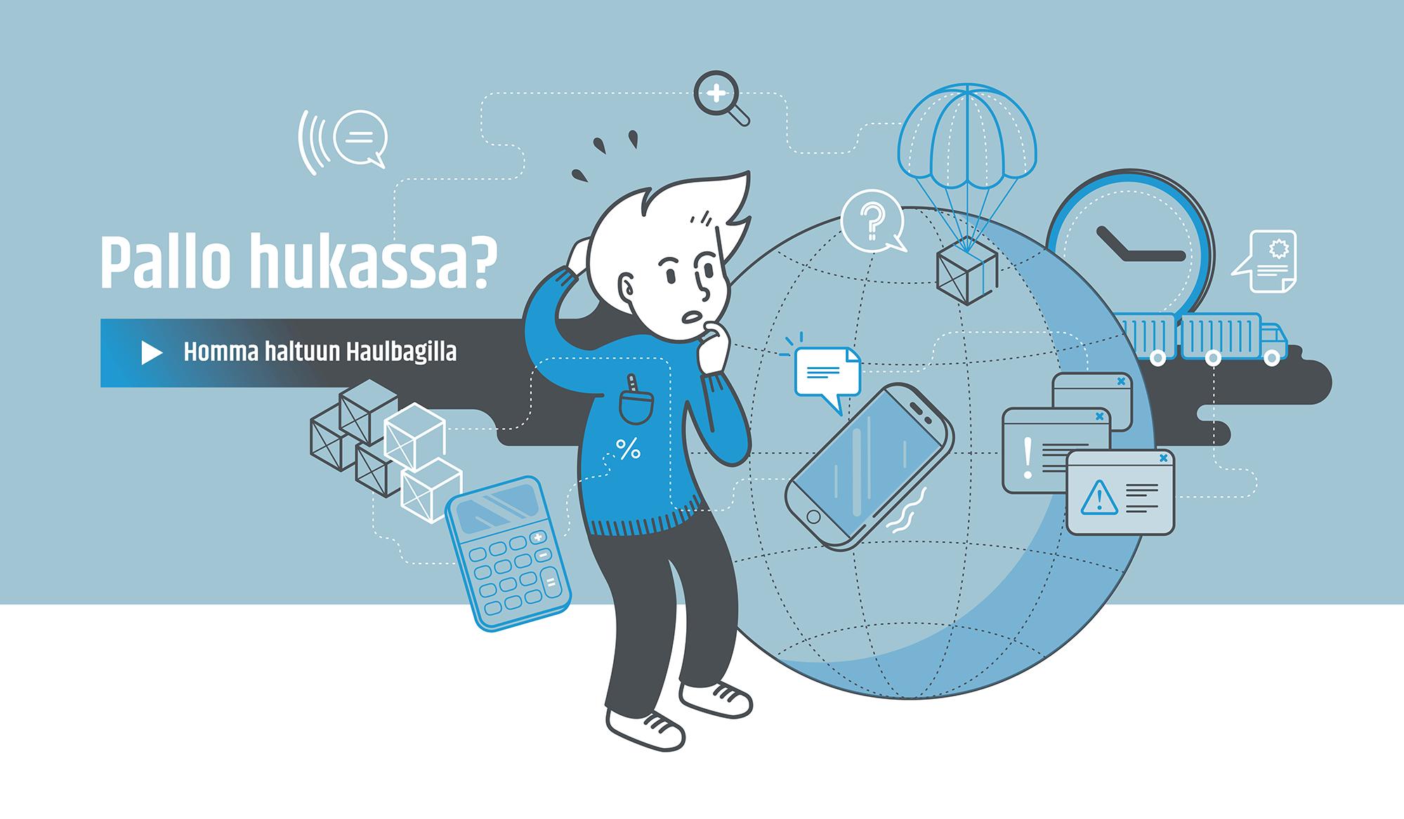 Haulbag advert illustration
