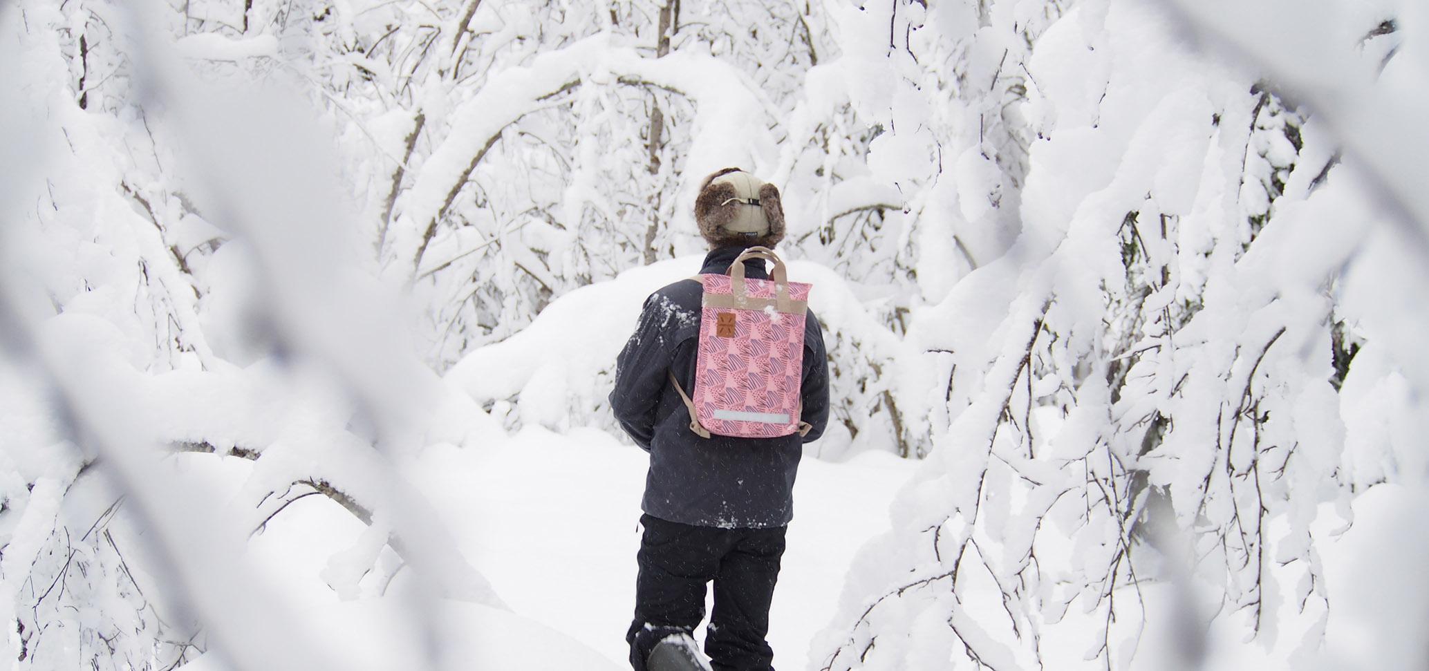 Lumikenkäkavelyllä