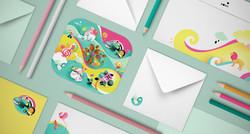 Valentine's Day postage stamp set