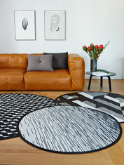 Round rugs of Stride, Dawn and Avalon