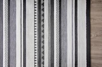 Inari rug weaving detail