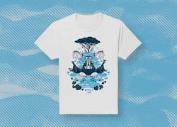 Waterhole t-shirt print