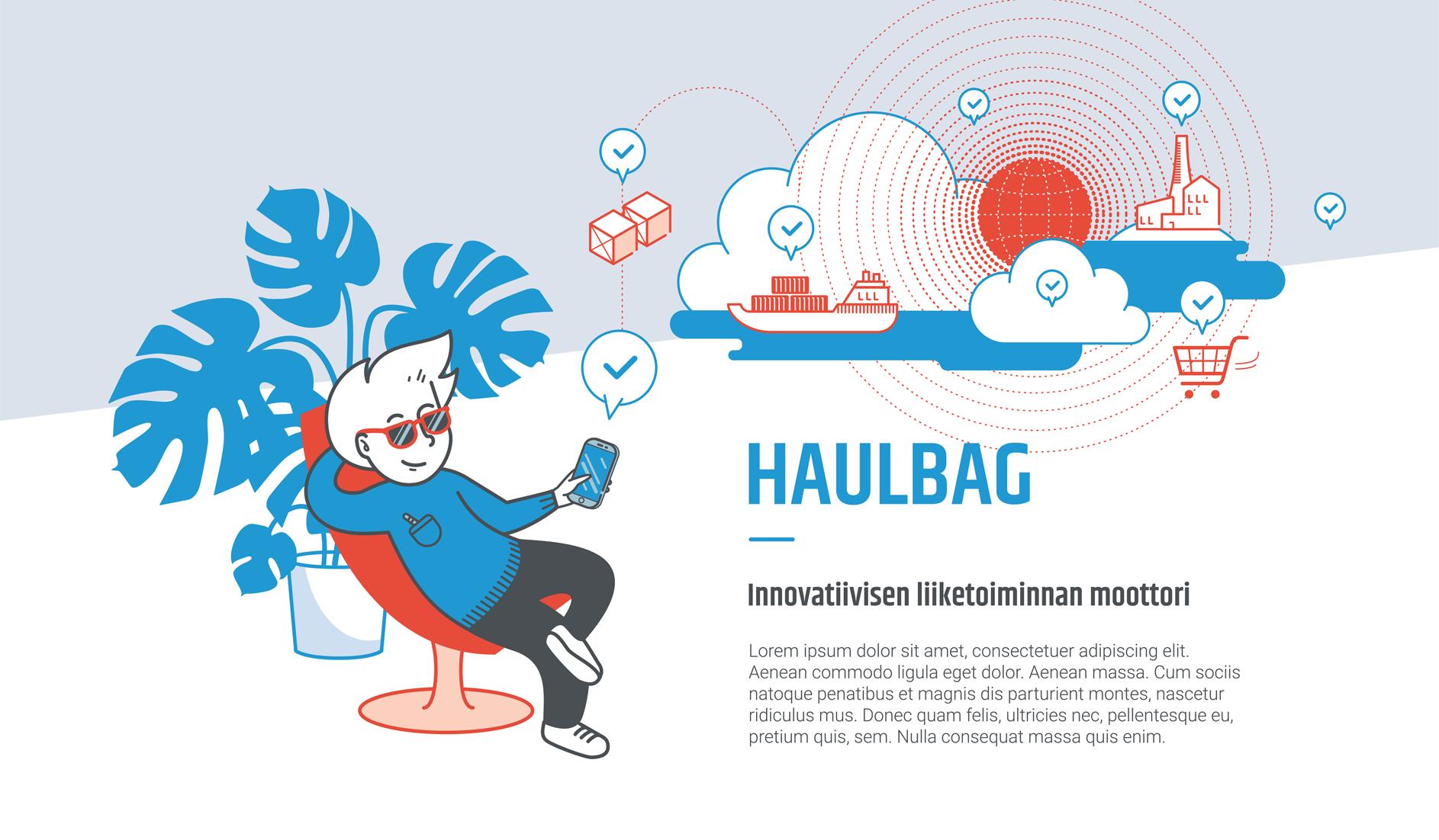Haulbag service illustration