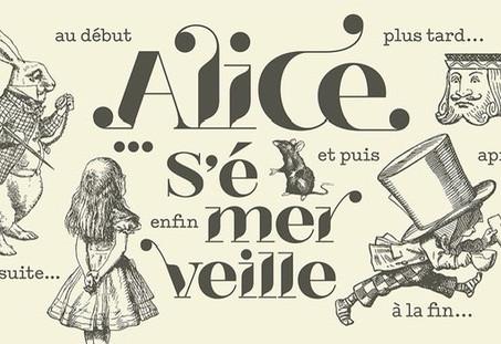 Alice s'émerveille en noir....