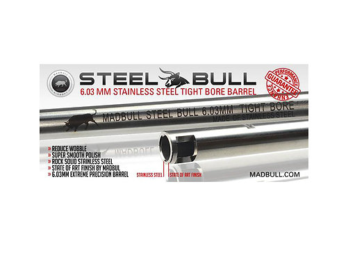 6.03x509mm Mad Bull Stainless Steel Barrel
