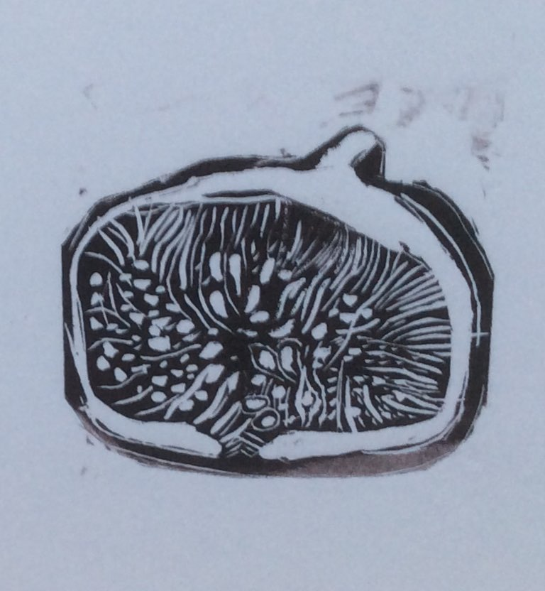Fig wood engraving 6.5x5.5