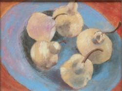 Plate of pears acrylic 26x20