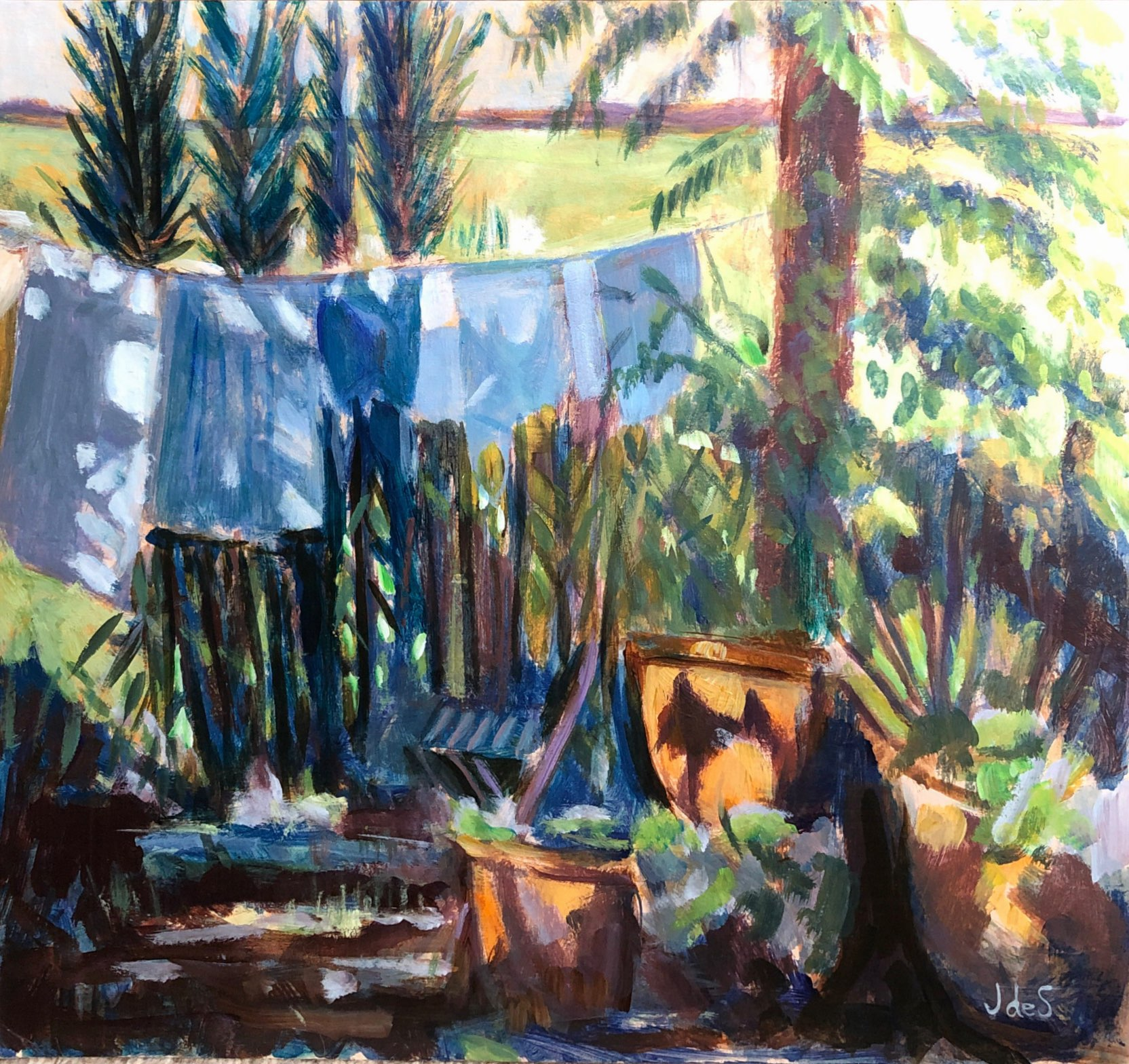 Washing line in France 37.5x34