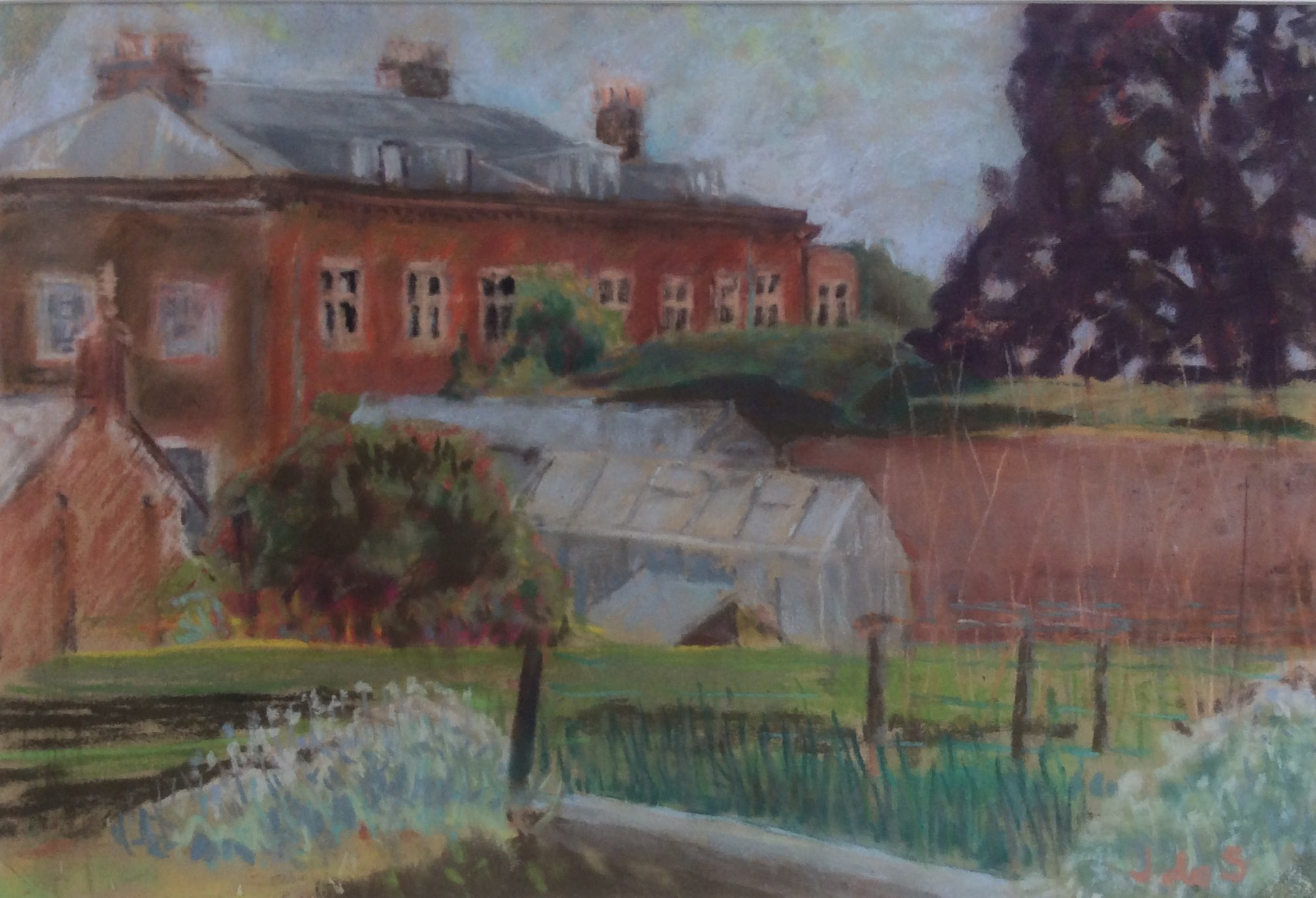The kitchen garden pastel 49x34