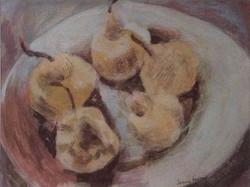 Five pears acrylic 26.5x20