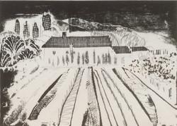 French farmhouse collograph 30x21