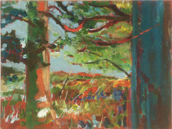 Green trees 1 oil 25x19