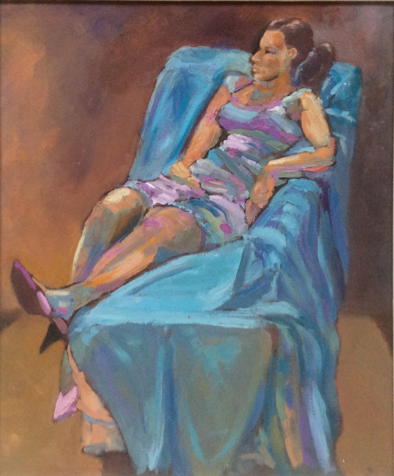 The pink shoes oil 40.5x49