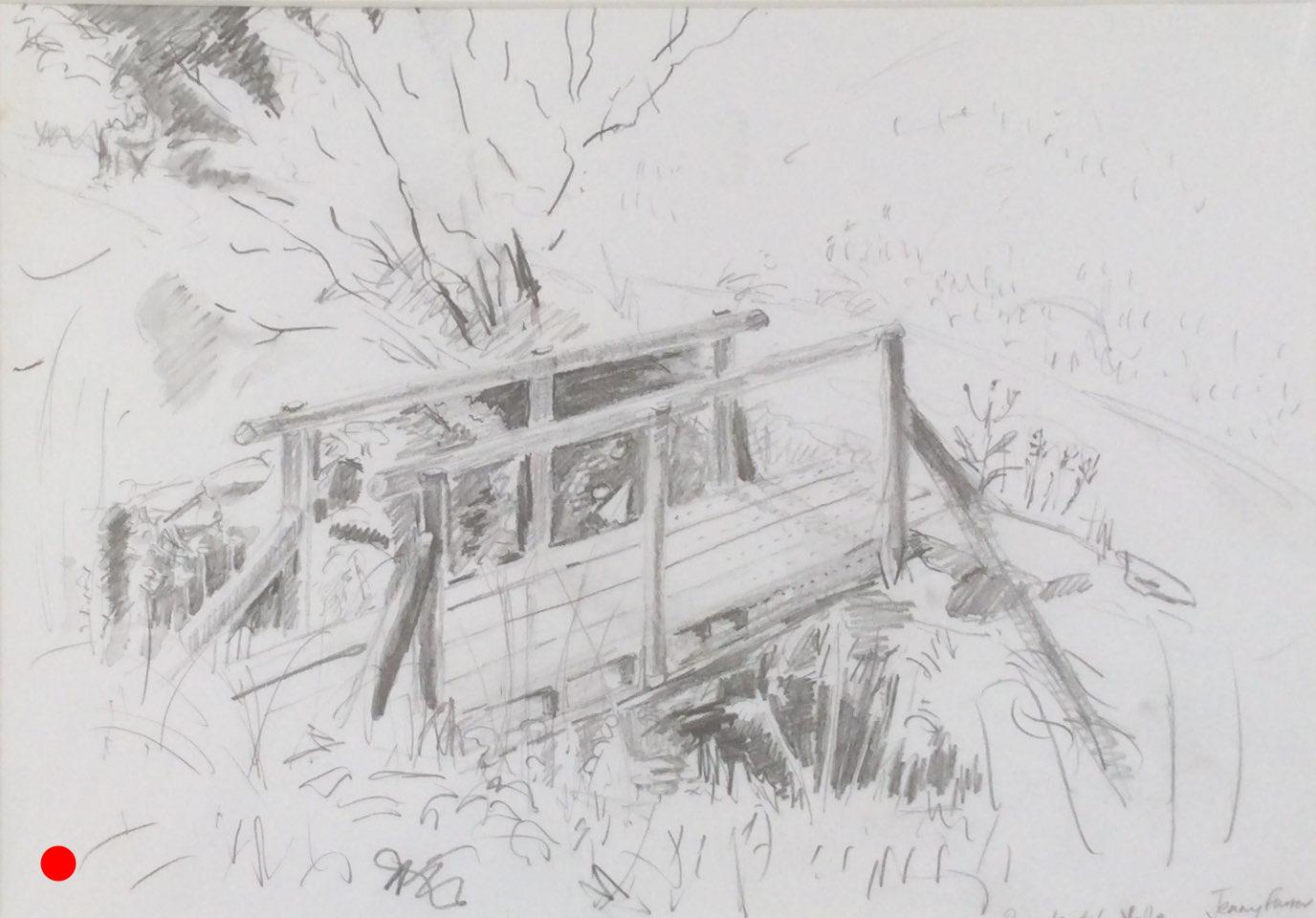 Pounte del Valle pencil 35x25_SOLD