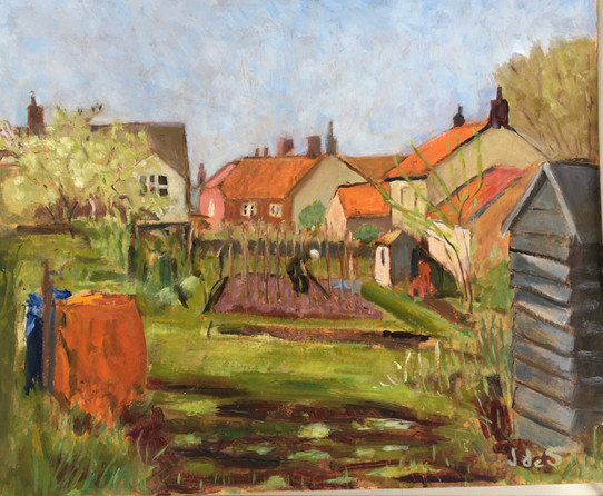 Working in the Allotment 21.5x19 oil