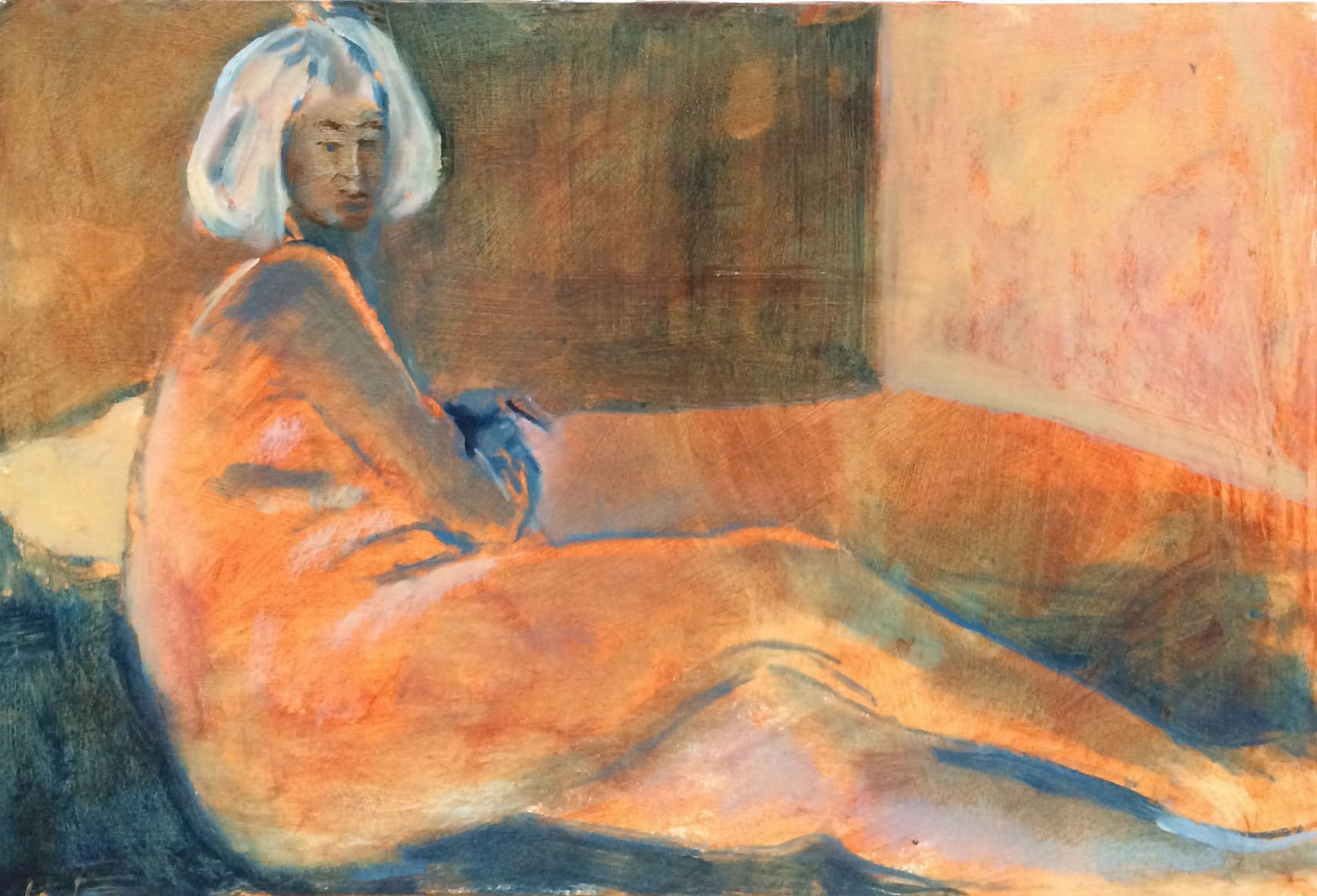 Lounging acrylic 43.5x30