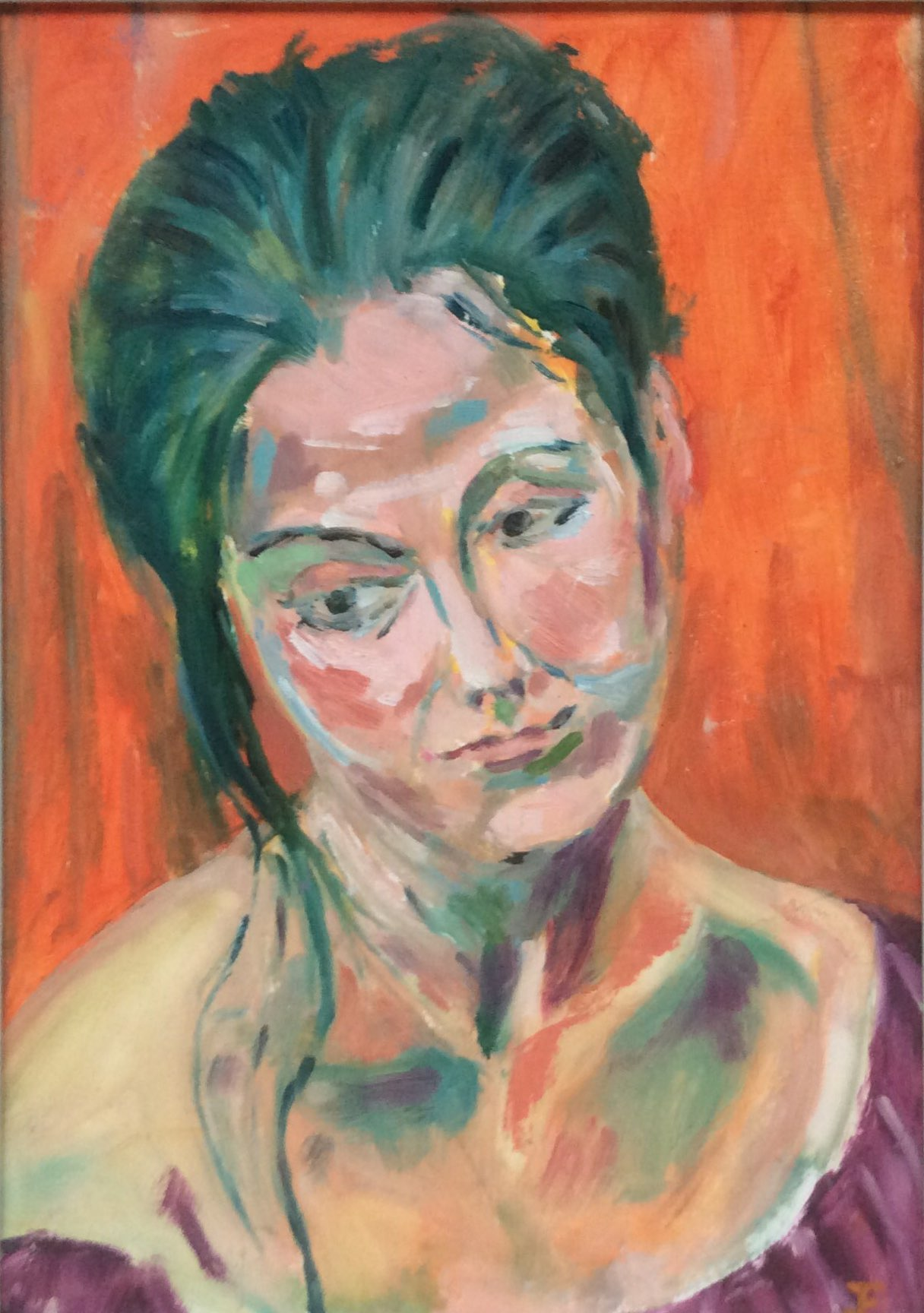 Portrait of a model acrylic 31.5x17