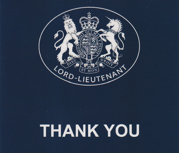 Thank you from HM Lord-Lieutenant of Wiltshire