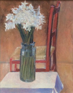 Red chair oil 34x42