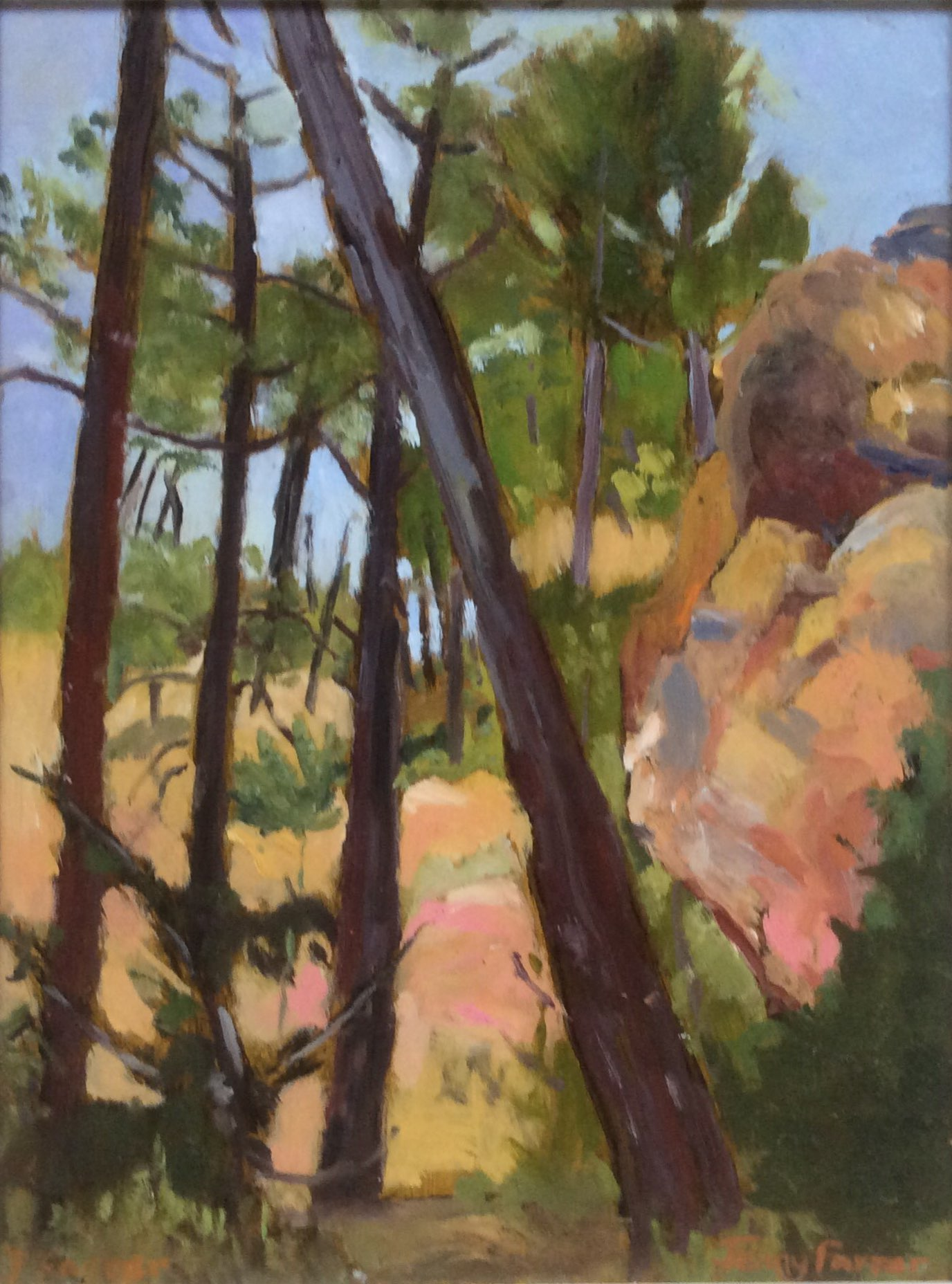 The ochre quarry oil 31x41