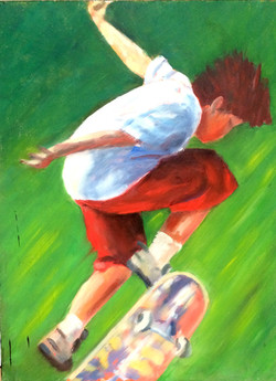 Skateboarder 2 acrylic 46x61