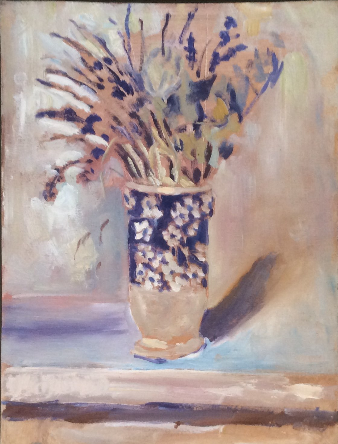 The blue vase oil 31x41