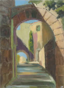 Archway in Gault oil 31x41
