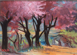 Red trees oil 42x30_SOLD