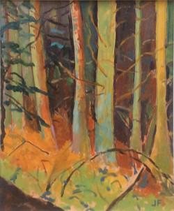 Wardour woods 1 oil 27.5x33