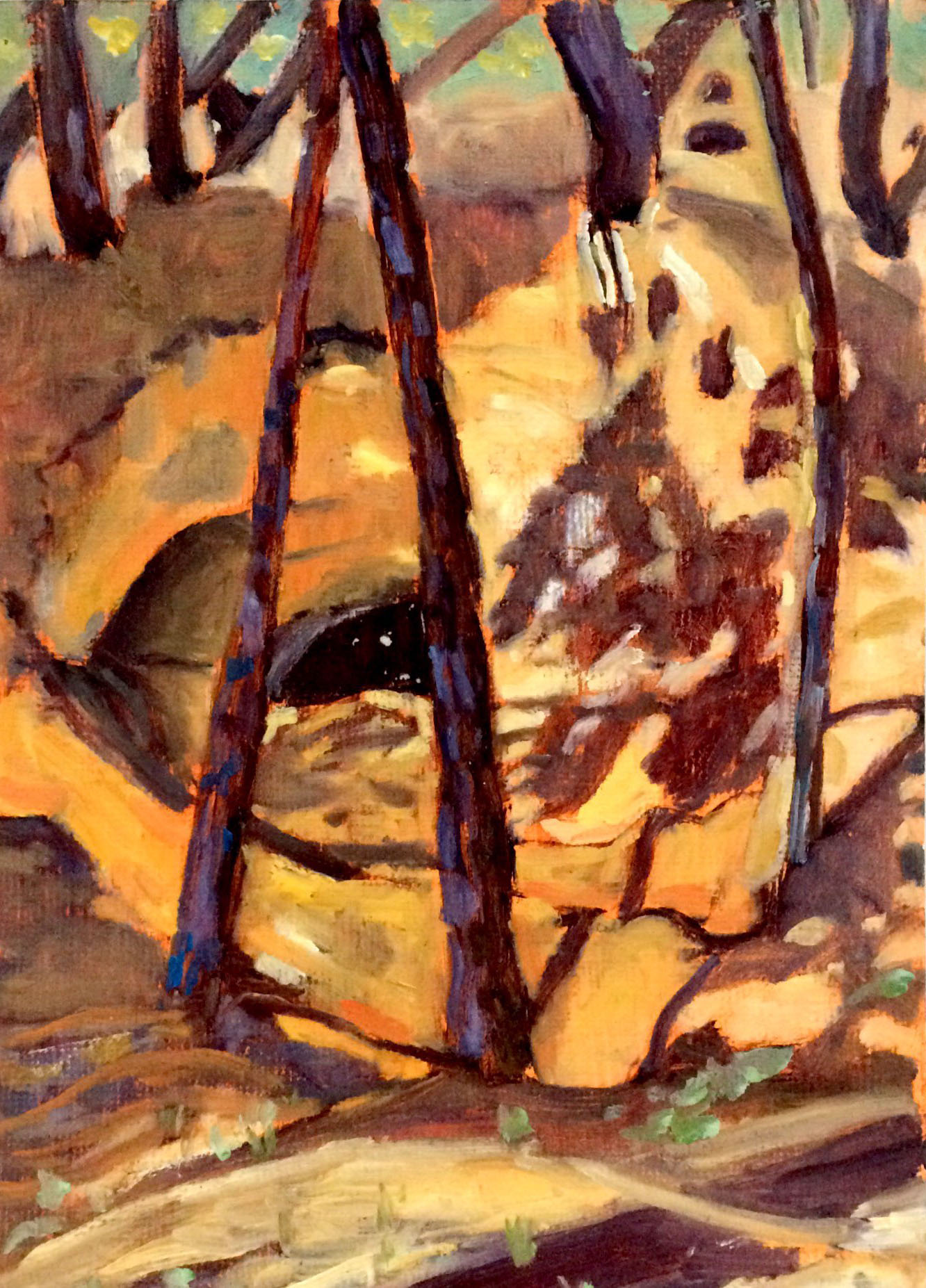 Ochre quarry 2 oil 30x42
