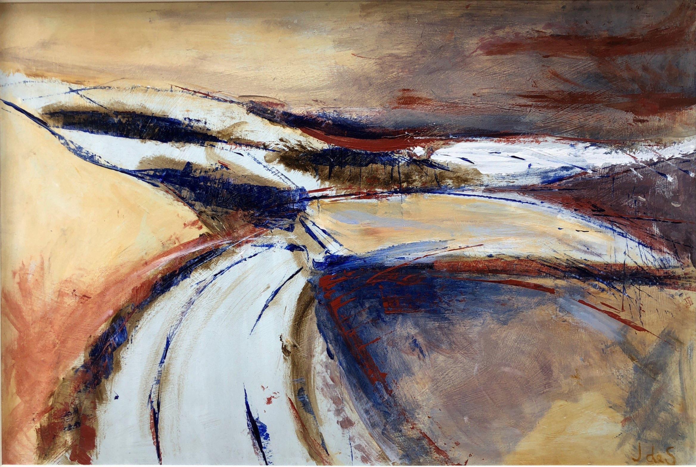 Wiltshire Landscape Acrylic 75x50
