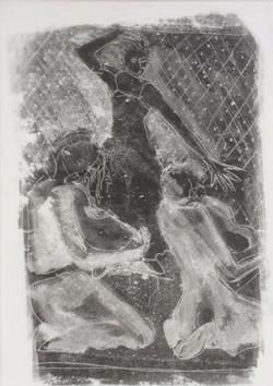 Dancer monoprint 32x43