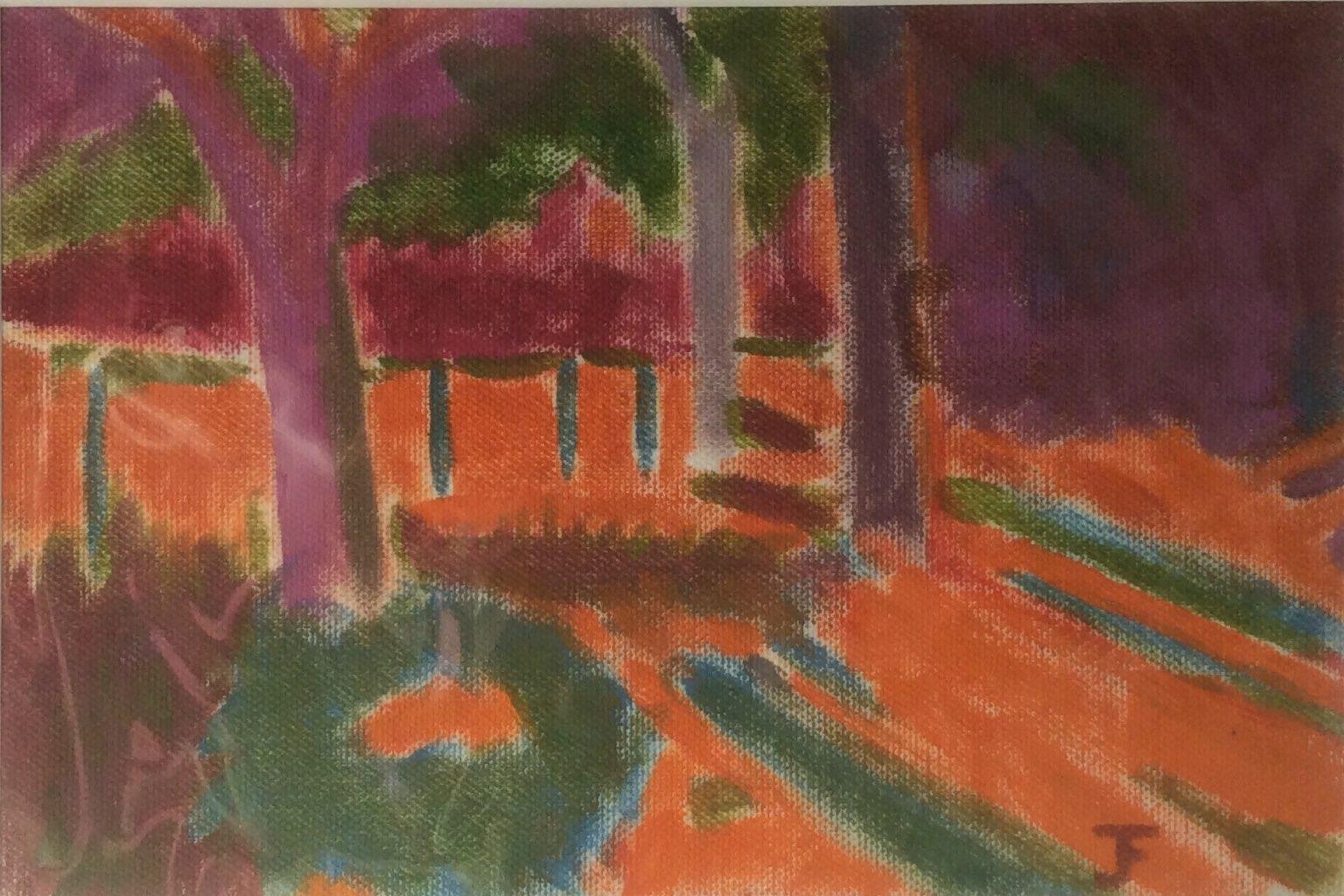 Provencal landscape oil 23x16
