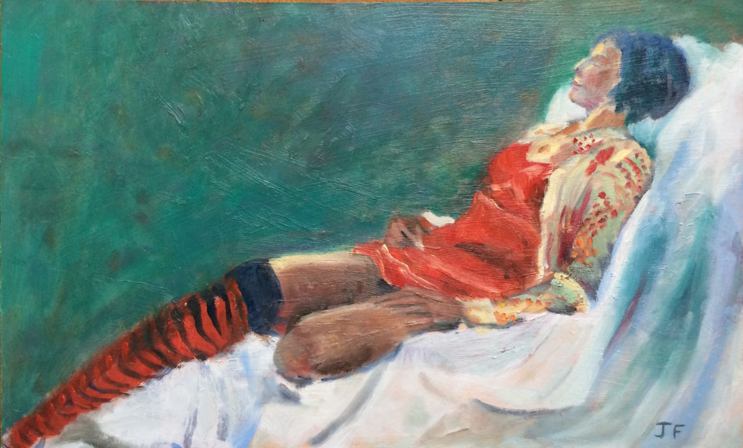 The striped stockings2 oil 24x40_edited