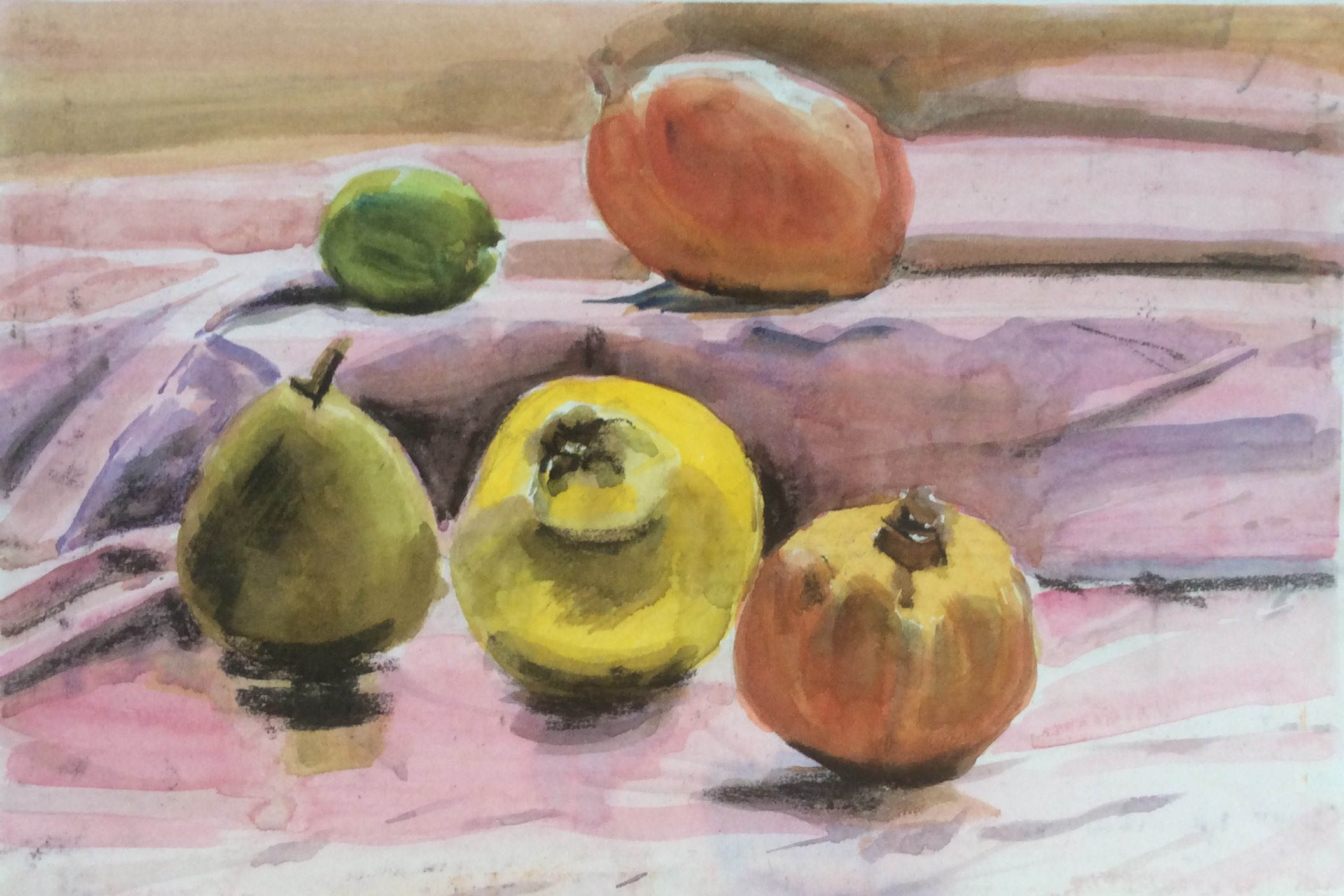 Fruit watercolour 42x29
