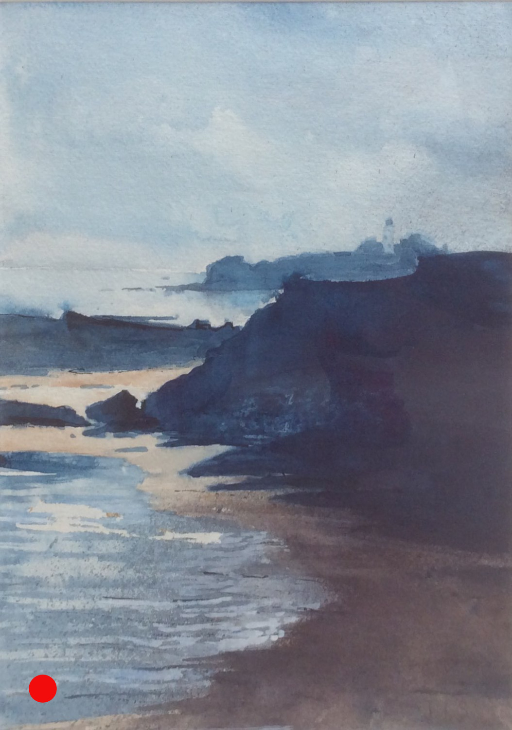 To the lighthouse watercolour SOLD